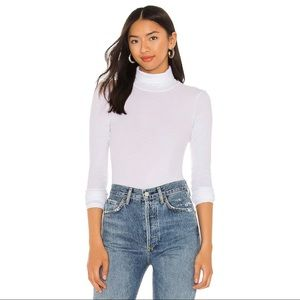 Revolve LA Made Roosevelt Turtleneck in White